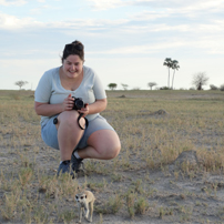 fran with meerkat botswana